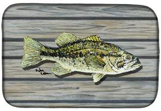 Caroline's Treasures Fish Bass Small Mouth Dish Drying Mat