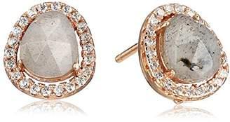 Shashi Nora Pave Rose Gold Earrings