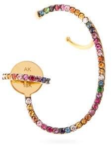 Ana Khouri Lily Diamond & 18kt Gold Single Earring - Womens - Multi