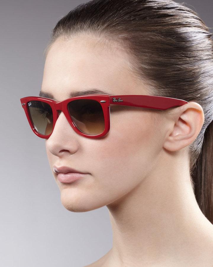 Ray-Ban Wayfarer Sunglasses, Red/Brown