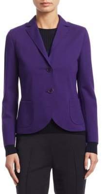 Akris Punto Jersey Buttoned Blazer