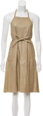 Reed Krakoff Leather Halter Dress