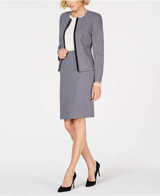 Le Suit Plaid Skirt Suit
