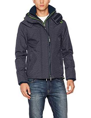 Superdry Men's Tech Hood Pop Zip Windcheater Sports Jacket,XX-Large (Size: 2)