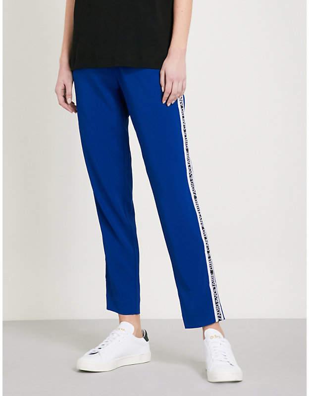 Paula side-stripe woven trousers