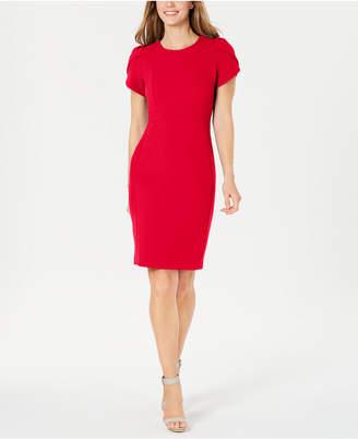 Calvin Klein Tulip-Sleeve Sheath Dress, Regular & Petite Sizes