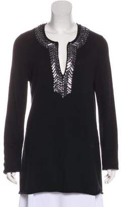 Tory Burch Embellished V-Neck Tunic