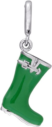 Laura Ashley Jewelry Sterling Silver Garden Boot EnamelCharm