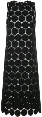 Le Ciel Bleu dot pattern lace shift dress