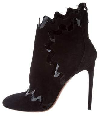 Alaia Pointed-Toe Suede Boots