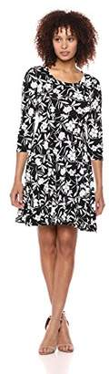 Karen Kane Women's 3/4 Sleeve a-Line Dress