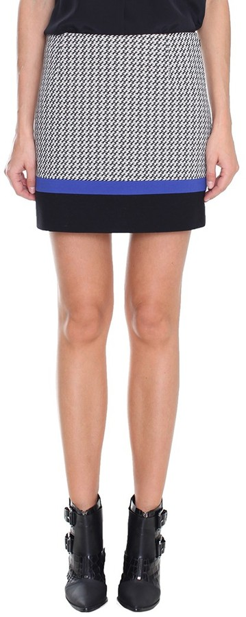 Tibi Jazz Stripe Mini Skirt