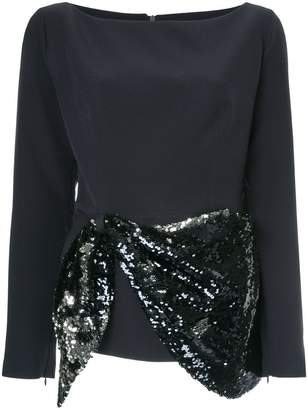 Safiyaa London sequin embellished blouse