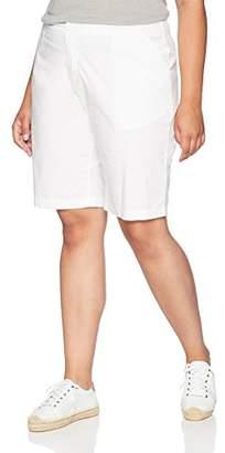 """Caribbean Joe Women's Size Plus 11"""" Clean Poplin Short"""