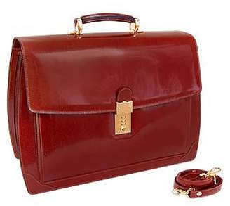 L.a.p.a. Cognac Leather Briefcase