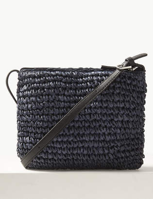 M&S CollectionMarks and Spencer Straw Cross Body Bag