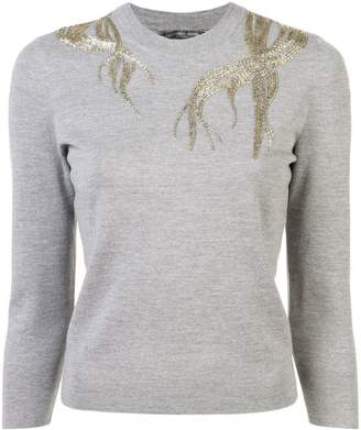 Alexander McQueen embroidered fitted sweater