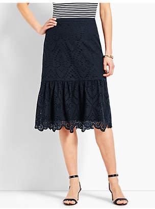Talbots Eyelet Fit-and-Flare Skirt