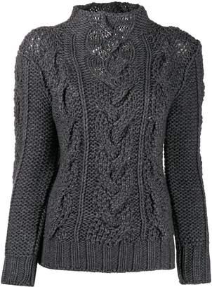 Ermanno Scervino cable-knit slim-fit jumper