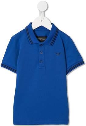 Emporio Armani Kids logo polo shirt