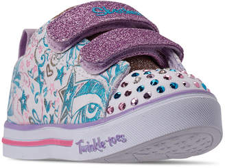 6ac752124234e Skechers Toddler Girls' Twinkle Toes: Sparkle Lite - Sparkle Scribble Light-Up  Casual