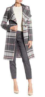 Ted Baker Checkered Long Wrap Coat