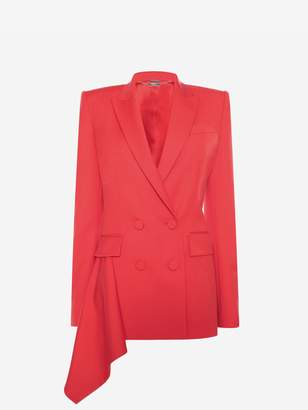 Alexander McQueen Double Breasted Drape Jacket