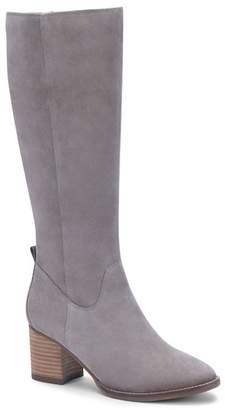 Blondo Nicola Waterproof Suede Knee-High Boot