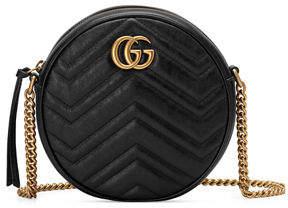 1069e8936 Gucci GG Marmont Mini Round Chevron Crossbody Bag