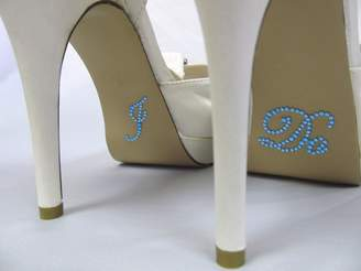 "Excipial Something Blue ""I Do"" Rhinestone Stickers for Bridal Shoes - Designed for Wedding Bride Shoes"