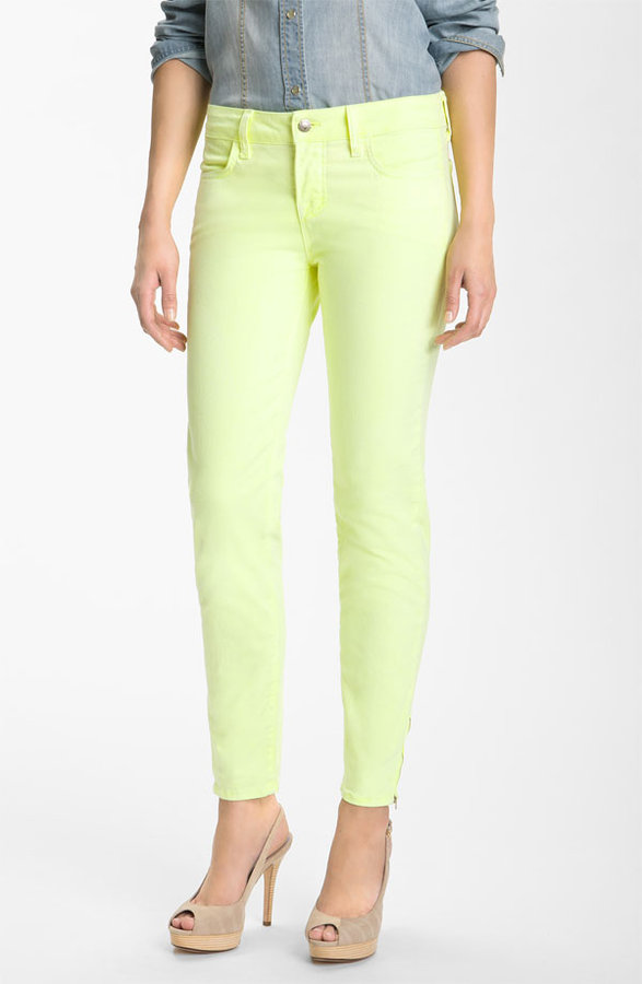 Blue Essence Skinny Zip Ankle Twill Jeans (Nordstrom Exclusive)