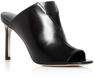 Via Spiga Women's Mira Leather High Heel Slide Sandals