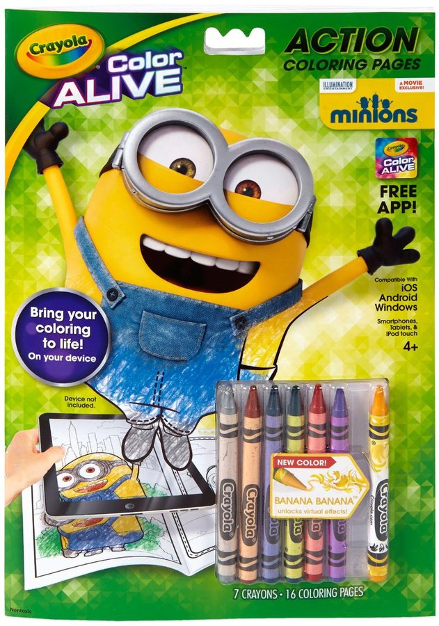 Crayola Color Alive Animated Pages -Minions