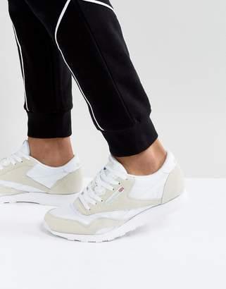 e7de8b5252fb07 Reebok Classic nylon trainers in white 6390