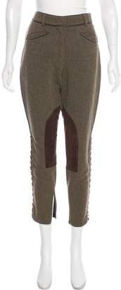 Emilio Pucci Suede-Paneled High-Rise Pants