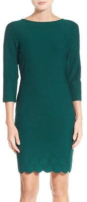 Julia Jordan Eyelet Sheath Dress