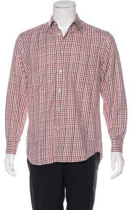 Canali Button-Up Woven Shirt