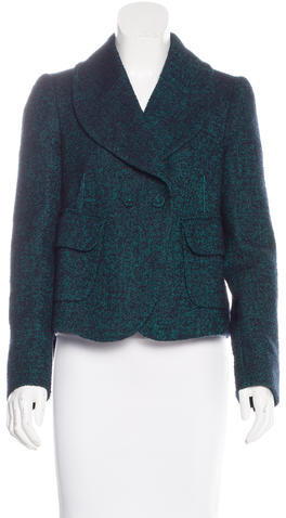 CarvenCarven Tweed Shawl Collar Blazer
