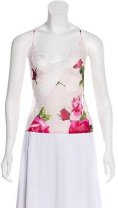 Dolce & Gabbana Sheer Sleeveless Blouse