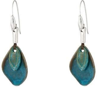 Robert Lee Morris Patina Petal Drop Earrings Earring