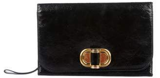 Alexander McQueen Glazed Leather Wallet