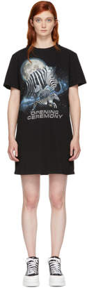 Opening Ceremony Black Cosmic Zebra T-Shirt Dress