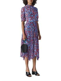 Whistles Jungle Cat Pleated Dress