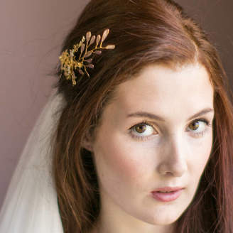 Victoria Millesime Golden Shadow Orchid Bridal Hair Comb
