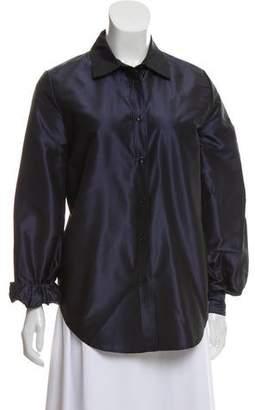 Isaac Mizrahi Long Sleeve Button-Up Top