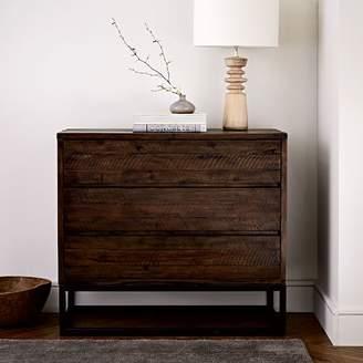 west elm Logan Industrial 3-Drawer Dresser - Smoked Brown