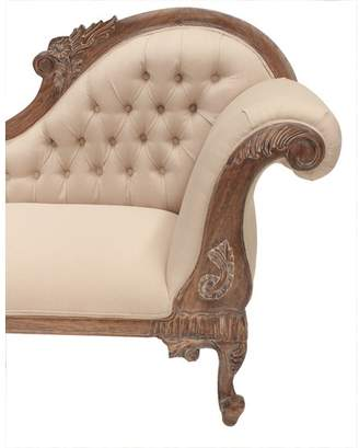 Classic French Chaise Sofa Finish: Weathered Oak, Chaise Side: Right