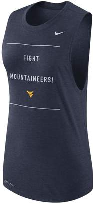 Nike Women's West Virginia Mountaineers Dri-FIT Muscle Tank Top