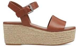 Nine West Leather Wedge Espadrille Ankle Sandals