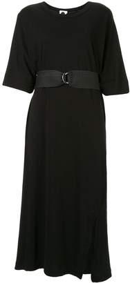 Bassike short-sleeve belted dress